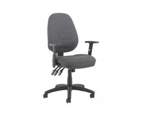 Lunar Plus XL Operator Chair (Adjustable Arms)