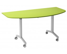 Solero Flip Top D-End Meeting Table (Green)