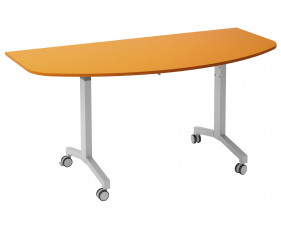 Solero Flip Top D-End Meeting Table (Orange)