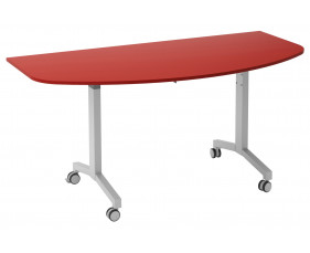Solero Flip Top D-End Meeting Table (Red)