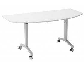 Solero Flip Top D-End Meeting Table