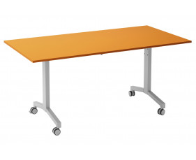 Solero Flip Top Rectangular Meeting Table (Orange)