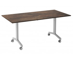 Delgado Flip Top Rectangular Meeting Table (Rusted Steel)