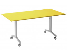 Solero Flip Top Rectangular Meeting Table (Yellow)