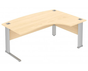 Paragon bow fronted ergonomic desk