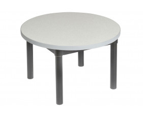 Gopak Enviro Round Coffee Table (Black Frame)