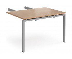 Add On Double Return Desk For Prime Desks (Silver Legs)