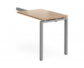 Add On Single Return Desk For Prime Desks (Silver Legs)