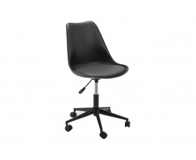Denning Black Office Chair with Black Base