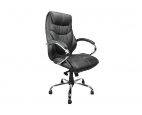 Kintyre Black Leather Faced Executive Chair
