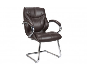 Kintyre Brown Leather Faced Visitor Chair