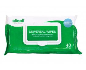 Clinell Universal Wipes (40 Wipes) - NHS Approved NHSSC VJT119