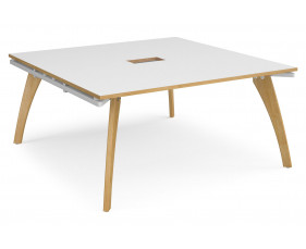 Distill Power Ready Square Boardroom Table