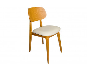 Gardena Dining Chair With Faux Leather Seat