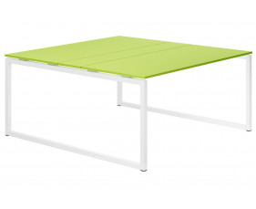 Next-Day Campos Hooped Leg 6-8 Person Meeting Table (Green)