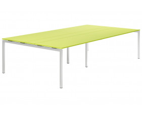 Next-Day Campos H-Leg 10-12 Person Meeting Table (Green)