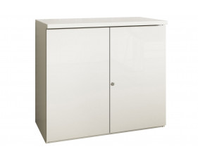 Indigo Low 1 Shelf Cupboard (Frost White)