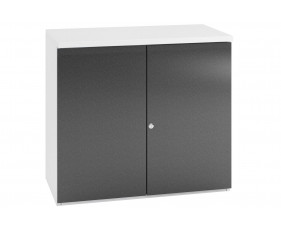 Indigo Low 1 Shelf Cupboard (Grey Anthracite)