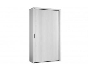 Indigo Tall Tambour Unit (Frost White)