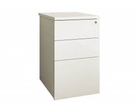 Indigo Desk High Pedestal (Frost White)