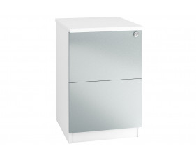 Indigo 2 Drawer Filing Cabinet (Metallic Blue)