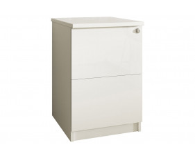 Indigo 2 Drawer Filing Cabinet (Frost White)