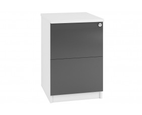 Indigo 2 Drawer Filing Cabinet (Grey Anthracite)