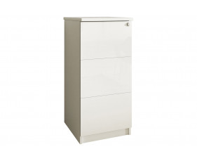 Indigo 3 Drawer Filing Cabinet (Frost White)