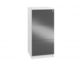 Indigo 3 Drawer Filing Cabinet (Grey Anthracite)