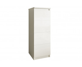 Indigo 4 Drawer Filing Cabinet (Frost White)