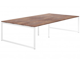 Next-Day Lasso Hooped Leg 10-12 Person Meeting Table (Rusted Steel)