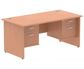 Vitali Panel End Rectangular Desk 2+2 Drawers