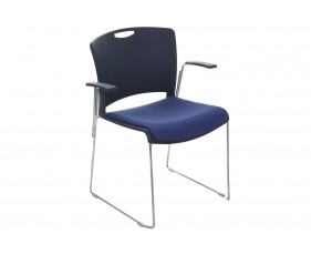 Alberta Stacking Armchair With Upholstered Seat