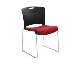 Alberta Stacking Chair With Upholstered Seat