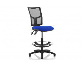 Lunar 2 Lever Mesh Back Draughtsman Chair (No Arms)