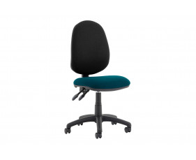 Lunar Plus 2 Lever 2 Tone Fabric Operator Chair (No Arms)