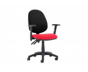 Lunar Plus 2 Lever 2 Tone Fabric Operator Chair (Adjustable Arms)