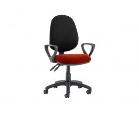 Lunar Plus 2 Lever 2 Tone Fabric Operator Chair (Fixed Arms)