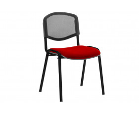 ISO Black Frame Mesh Back Conference Chair (Bergamot Cherry)