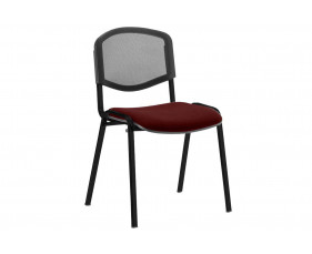 ISO Black Frame Mesh Back Conference Chair (Ginseng Chilli)