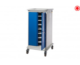 QMP Narrow 8 Tiers Laptop & Tablet Charging Trolley