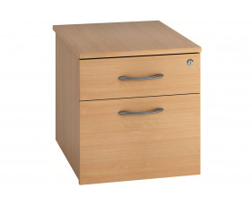Lozano Low Mobile 2 Drawer Pedestal (Beech)
