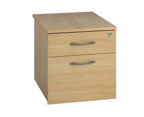 Lozano Low Mobile 2 Drawer Pedestal (Oak)