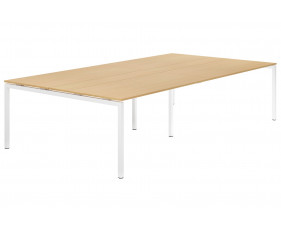 Next-Day Lozano H-Leg 10-12 Person Meeting Table (Beech)