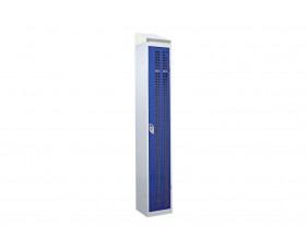 QMP Perforated 1 Door Locker With Sloping Top