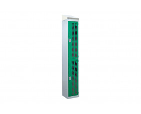 QMP Perforated 2 Door Locker With Sloping Top