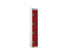 QMP Perforated 4 Door Locker With Sloping Top