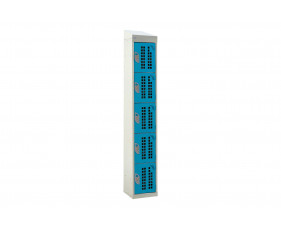 QMP Perforated 5 Door Locker With Sloping Top
