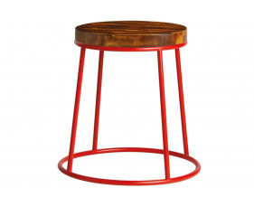 Mulluna Low Stool With Wooden Seat