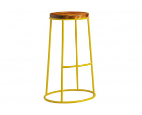 Mulluna High Stool With Wooden Seat